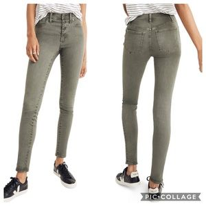 """NWOT Madewell 9"""" Mid Rise Button Fly Skinny Jeans"""